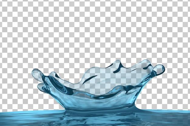 Krone wasserspritzer isoliert