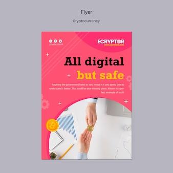 Kryptowährungs-designvorlage des flyers