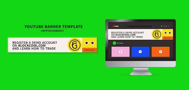 Kryptowährungs-syoutube-banner-vorlagen-design