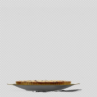 Kuchen 3d lokalisiert übertragen