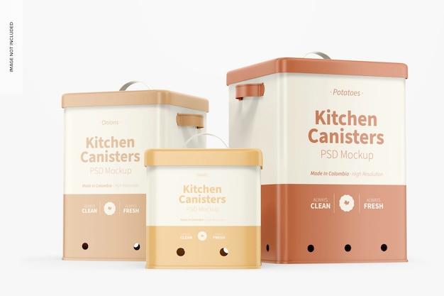 Küchenkanister-modell, vorderansicht