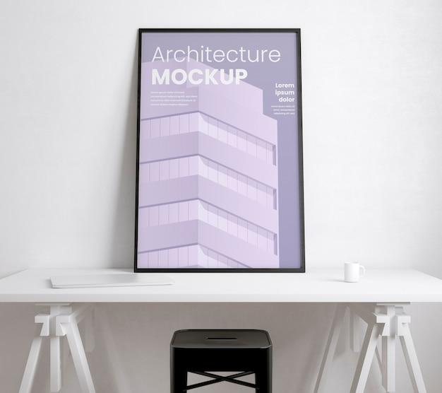 Künstlerzimmer mit architekturrahmenmodell