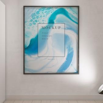 Künstlerzimmer mit rahmenmodell