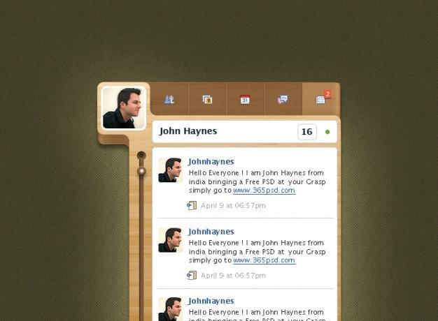Kundenspezifische designs facebook facebook widget grafik-design photoshop-widget aus holz