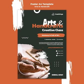 Kunst und handwerk poster vorlage