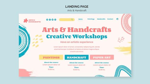 Kunst- und handwerks-landingpage