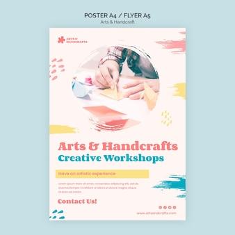 Kunst- und handwerksplakatschablone