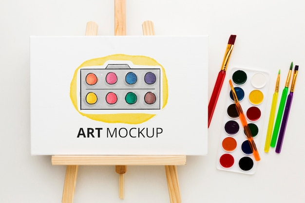 Kunstmodell mit aquarell-draufsicht