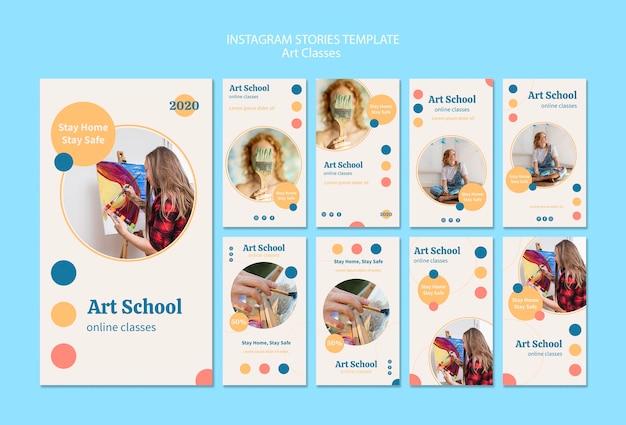 Kunstschule instagram geschichten sammlung