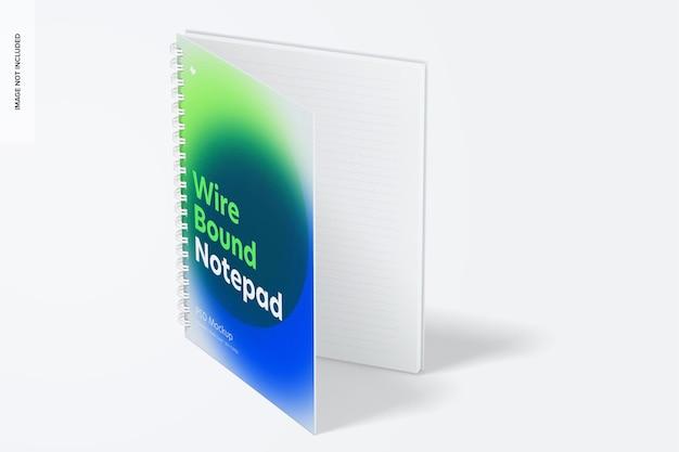 Kunststoffabdeckung drahtgebundenes notepad-modell