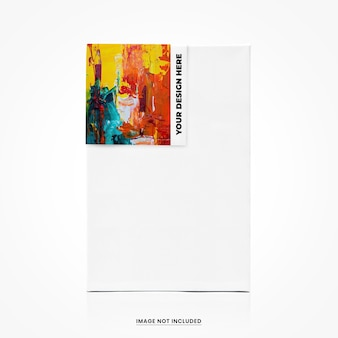 Label canvas mockup isoliert
