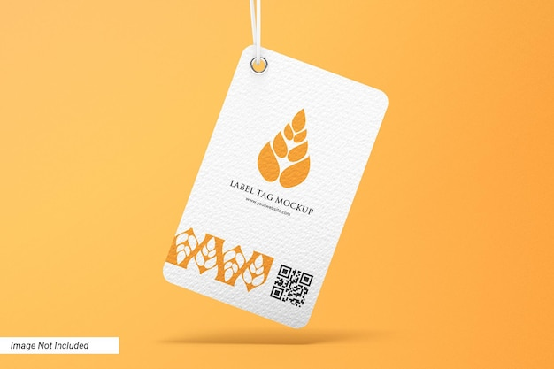 Label-mockup für branding-tags