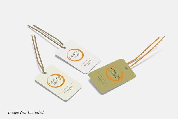 Label-tag-modell premium psd