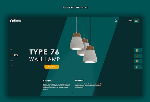 Lampen landing page design