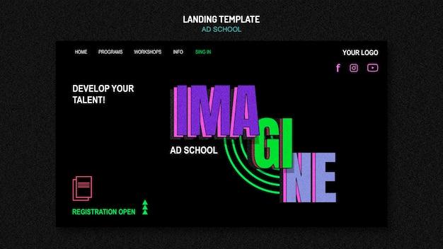 Landing page ad school vorlage
