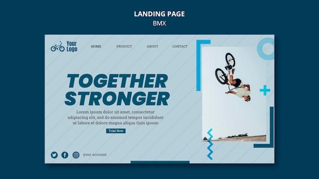 Landing page bmx shop vorlage