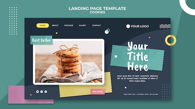 Landing page cookie shop vorlage