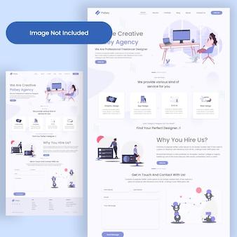 Landing page der webagentur