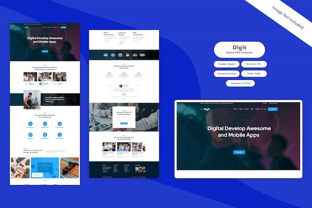 Landing page - digitale psd