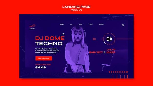 Landing page dj set livestream-vorlage