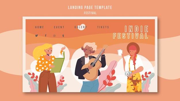 Landing page festival vorlage