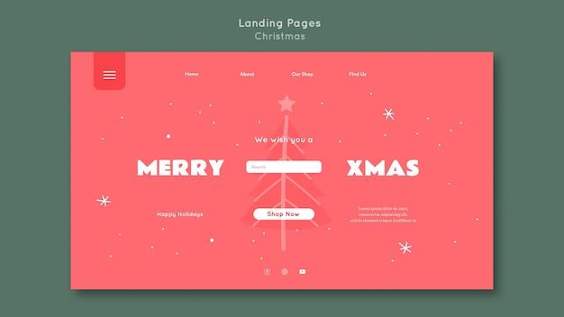 Landing page frohe weihnachten vorlage