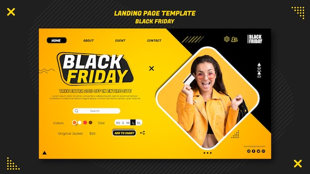 Landing page für black friday clearance