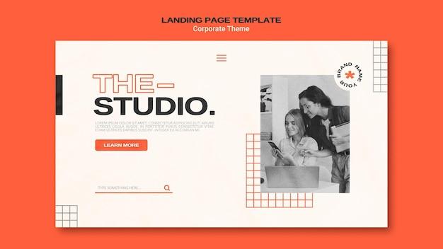 Landing page für corporate studio