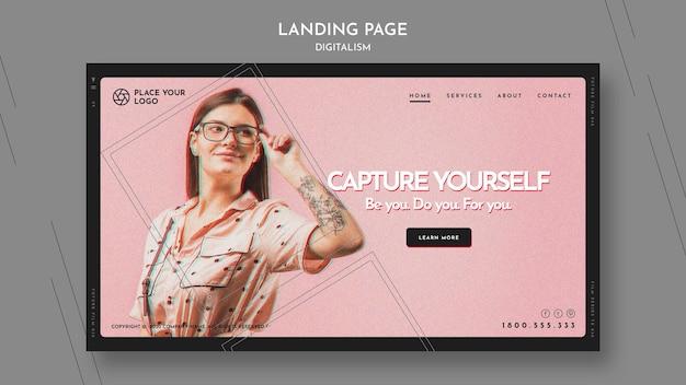Landing page für das thema capture yourself