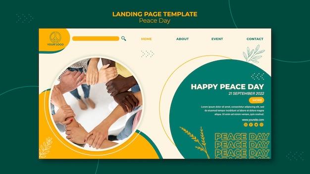 Landing page für den internationalen friedenstag
