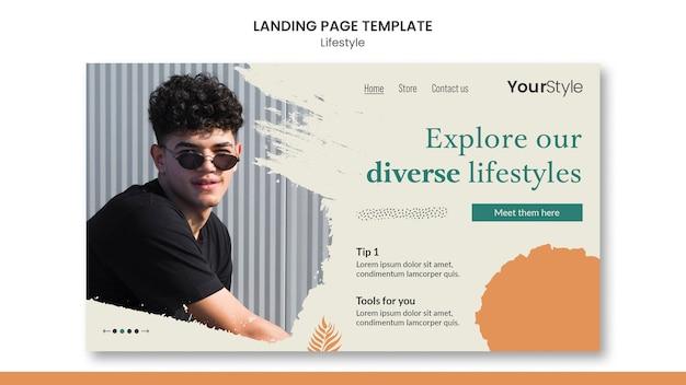 Landing page für den persönlichen lebensstil Kostenlosen PSD