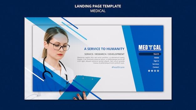 Landing page für die coronavirus-impfung