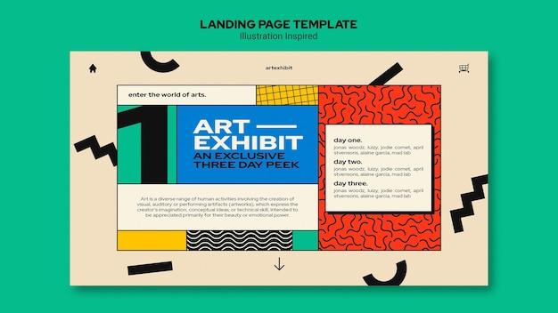 Landing page für kunstausstellung