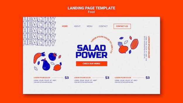Landing page für salat power