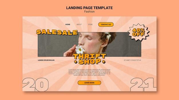 Landing page für secondhand-modeverkauf