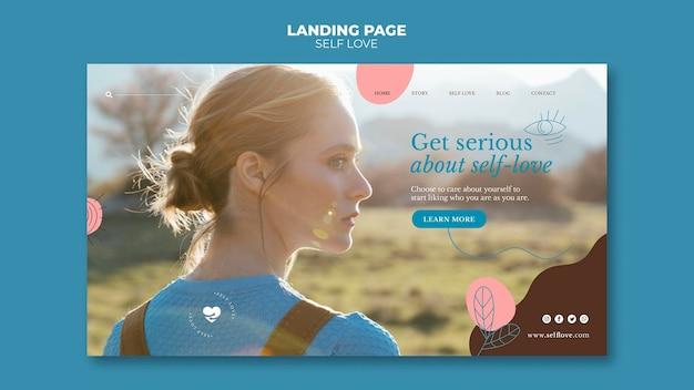 Landing page für selbstliebe und akzeptanz