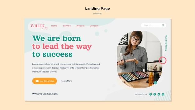 Landing page für social media-influencerinnen