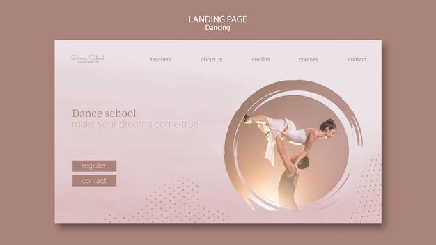 Landing page für tanzende künstler