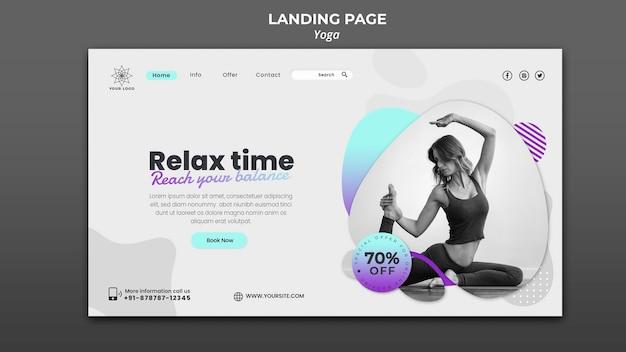 Landing page für yoga-stunden