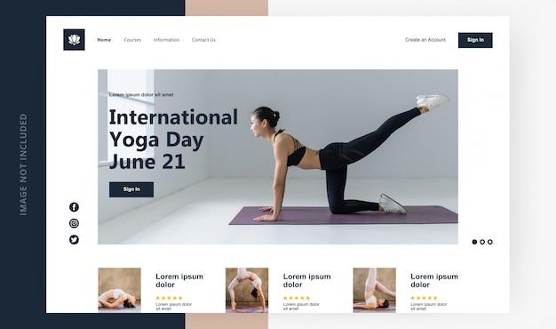 Landing page internationaler yogatag
