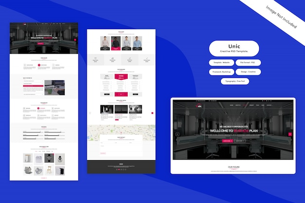 Landing page - kreative psd