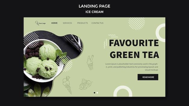 Landing page mit eis