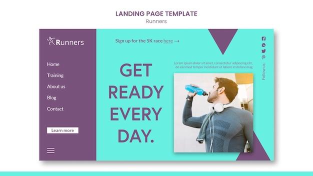 Landing page mit trainingsvorlage