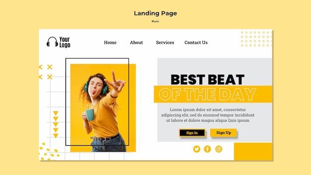 Landing page musikplattform vorlage