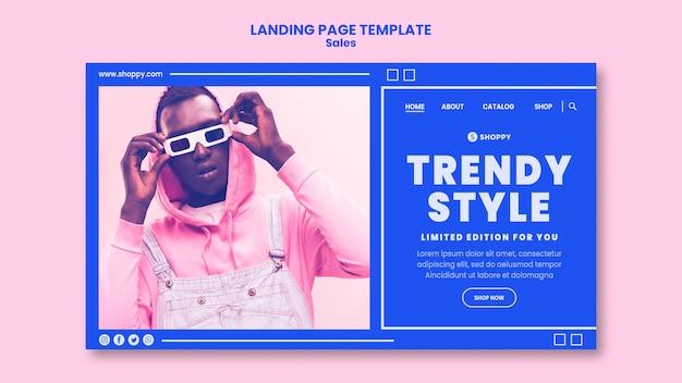 Landing page outlet sale vorlage