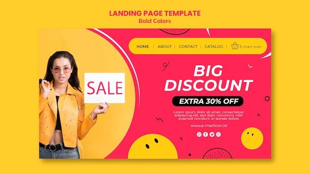 Landing page sale anzeigenvorlage