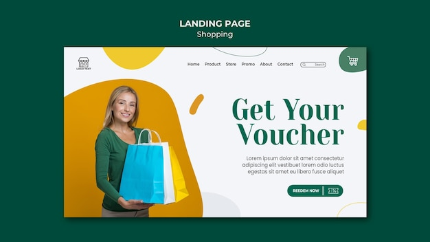 Landing page shopping sale vorlage