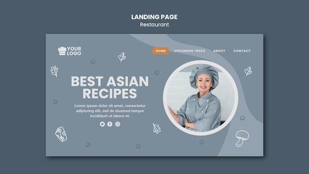 Landing page template restaurant anzeige