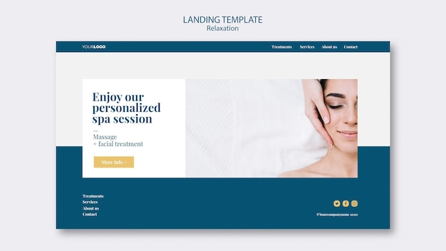 Landing page template spa-behandlung