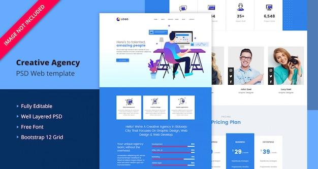 Landing page-vorlage für creative agency